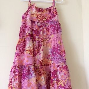 Girls Tiered Floral twirl dress